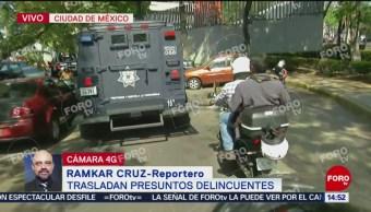 Foto: Trasladan a cuatro detenidos en Álvaro Obregón