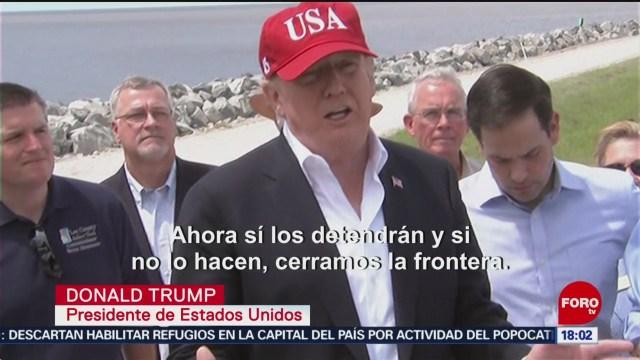 Foto: Trump Amenaza Cerrar Frontera México 29 de Marzo 2019