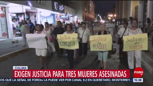 Foto: Vecinos exigen justicia para mujeres asesinadas en Colima