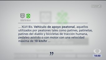 Foto: Vehículos de apoyo peatonal podrán circular sobre vía peatonal