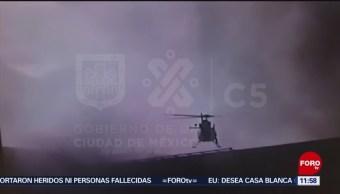 FOTO:Video: Helicóptero Cóndores rescata a empleados de Conagua en edificio incendiado, 23 Marzo 2019