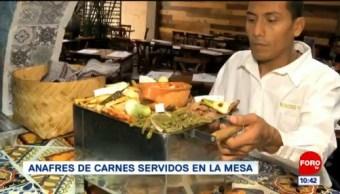 Viernes Culinario: Anafres de carnes servidos en la mesa