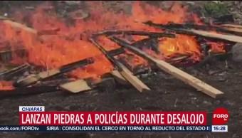 Foto: Violento desalojo en Chiapas