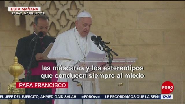 FOTO: Visita del papa Francisco en Marruecos, 30 Marzo 2019