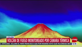 Volcán de Colima ya es monitoreado con cámara térmica