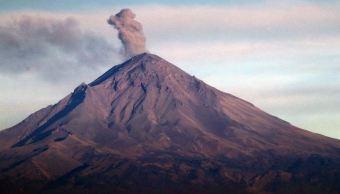 Foto:El volcán Popocatépetl visto desde el Cerro de las Tres Cruces en el poblado de Tres Marías, 8 marzo 2019