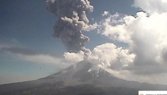 Foto: Volcán Popocatépetl, 14 de febrero 2019. Twitter AlfonsoDurazo
