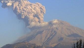 Foto: Volcán Popocatépetl, 22 de marzo 2019. Twitter @SkyAlertMx, vía Webcams de México