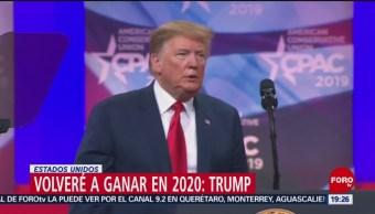 FOTO: Volveré a ganar en 2020: Trump, 2 marzo 2019