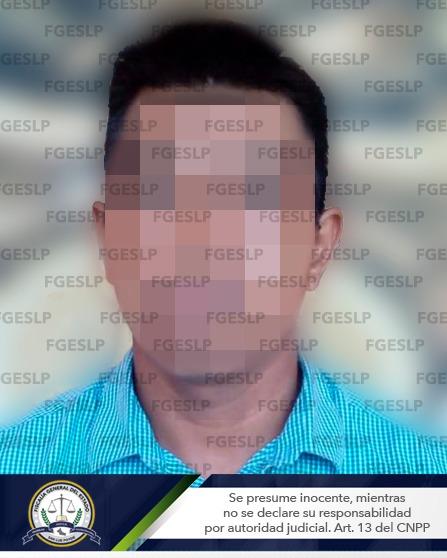 Imagen compartida por la Fiscalía de San Luis en el comunicado en el que informan sobre la vinculación (FGESLP)