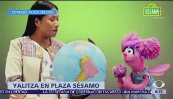 Yalitza Aparicio es invitada especial en Plaza Sesamo