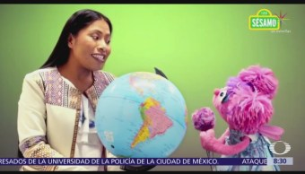 Yalitza Aparicio participa en campaña de Plaza Sésamo