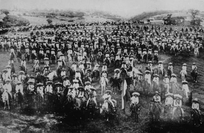 Fuerzas surianas a las ordenes de Emiliano Zapata alrededor de 1914-1915. (CC/Wikimedia)
