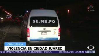 24 homicidios en Ciudad Juárez, en sólo tres días