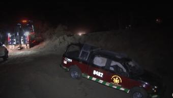 Camioneta de bomberos accidentada en la Ciudad de México, 31 de marzo de 2019, México
