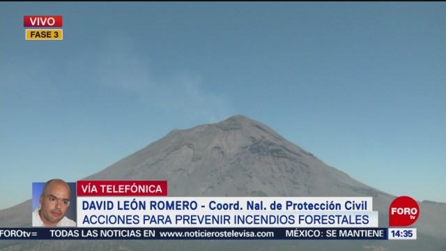 Foto: Actividad del Popocatépetl está estable