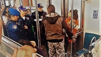 A puñetazos y golpes, vagoneros agreden a policías en la Línea B del Metro de la CDMX