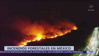 FOTO: Al menos 72 incendios forestales en todo el país, 18 abril 2019