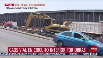 FOTO: Alertan a automovilistas por el cierre de Circuito Interior, 14 de abril 2019