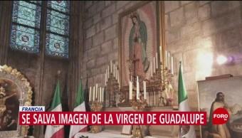 Foto: Virgen Guadalupe Se Salva Incendio Notre Dame 16 de Abril 2019