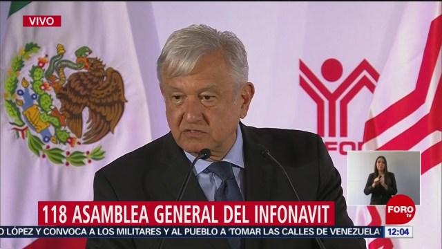 AMLO asiste a la 118 asamblea general del Infonavit