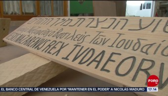 Foto: Ángel Juárez elaborar la cruz para la pasión de Cristo en Iztapalapa