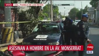 Asesinan a un hombre en la alcaldía Coyoacán