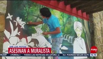 FOTO:Asesinan al muralista Héctor Domínguez en San Luis Potosí, 21 ABRIL 2019