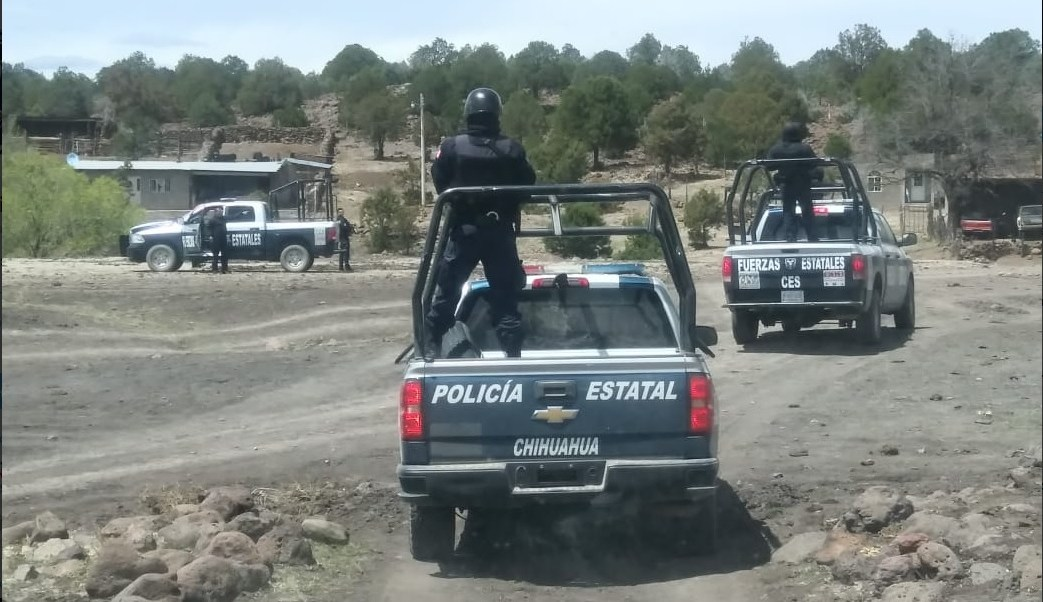 Foto: Ataque a policías en Chihuahua, 8 de abril 2019. Twitter @ces_chihuahua
