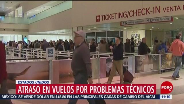 Atrasos en vuelos por problemas técnicos en EU