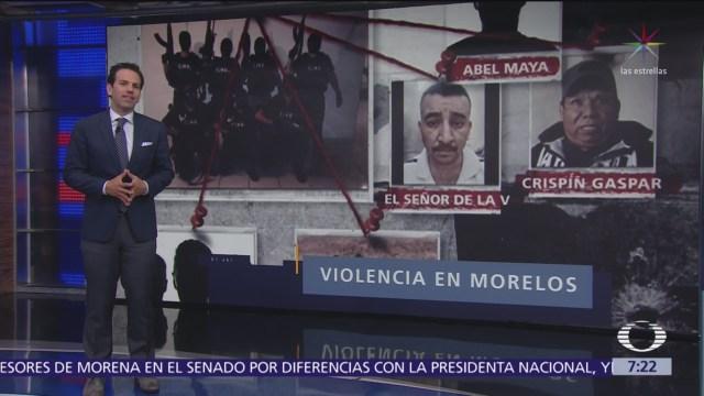 Aumentan homicidios en Morelos por disputa entre grupos criminales
