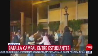 FOTO: Batalla campal entre estudiantes en Veracruz, 13 de abril 2019