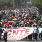 Foto: Bloqueo de la CNTE en la Ciudad de México, 5 de abril de 2019, México