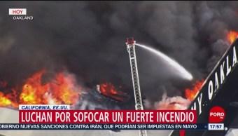 Foto: Bomberos trabajan para apagar un incendio en California, EU