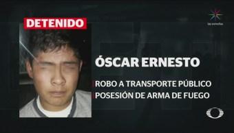 Foto: Detienen Persona Lanzó Granada Transporte Público Tecámac 16 de Abril 2019