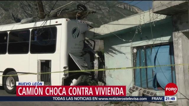 Foto: Camión Choca Contra Vivienda Nuevo León 15 de Abril 2019