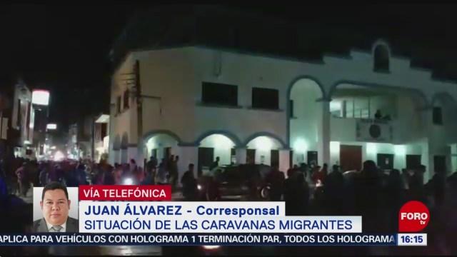 Foto: Caravana de migrantes centroamericanos permanece en Huixtla, Chiapas