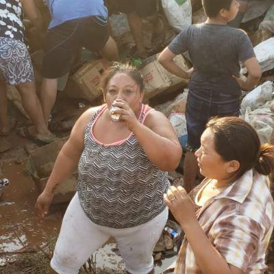 Saquean tráiler de cerveza en carretera Campeche-Mérida