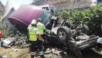 Foto: Accidente en autopista Chamapa-Lechería , 12 de abril 2019. Twitter @vialhermes
