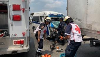 Foto: choque en Tabasco deja 13 lesionados, 8 de abril 2019. Twitter @TVTenlinea