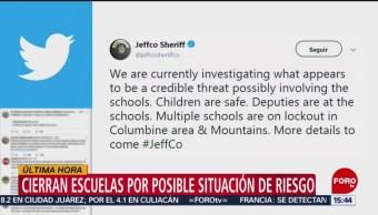 Foto: Cierran escuelas por situación de riesgo en Colorado, EU