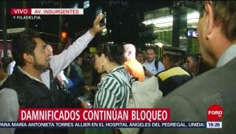 Foto: Cierran estación del Metrobús por bloqueo en Insurgentes