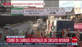 FOTO: Cierre de carriles centrales de Circuito Interior por obras, 19 ABRIL 2019