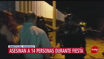 FOTO: Comando armado asesina a 14 personas en Minatitlán, Veracruz, 19 ABRIL 2019