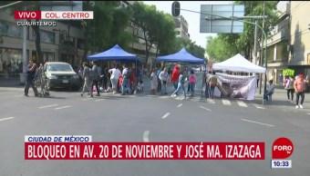 Comerciantes indígenas bloquean calles del Centro Histórico, CDMX