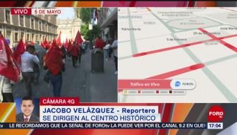 Foto: Conmemoran a Zapata con marcha hacia el Zócalo