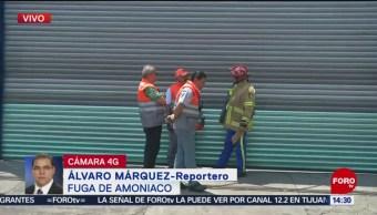 FOTO: Controlan fuga de amoniaco en alcaldía Cuauhtémoc, 20 ABRIL 2019