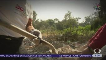 FOTO: Corredores cambian su entrenamiento por limpiar áreas forestales, 19 ABRIL 2019