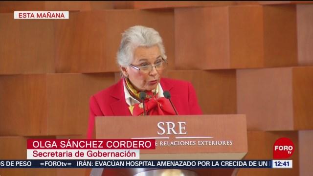 Derechos humanos son prioridad para Segob, dice Sánchez Cordero