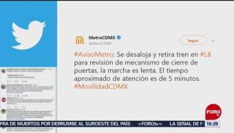 Foto: 22 Desalojan Metro Fallas Servicio Linea 7 CDMX de Abril 2019